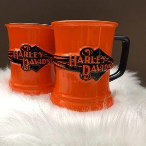 Harley Davidson 2002 Orange and Black Coffee Mug